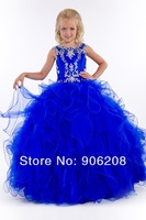 Free Shipping Lovely Ball Gown Spaghetti Strap Ankle Length Tulle Flower Girl Dress  Dresses