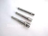 "Free shipping Socket Adapter Adaptor Set Hex Shank to 1/4"",3/8"",1/2"" Impact Driver/Drill AA++"