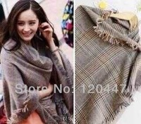 2014 new fashion brand cashmere pattern warm long plus size thickening scarf w/t flow for christmas gift wole sale free