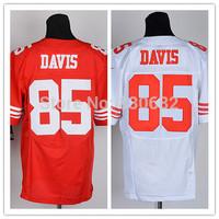 Free shipping Cheap Elite American Football Jerseys San Francisco #85 Vernon Davis Jersey Embroidery Logo Mix Order size M-XXXL