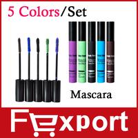 New 5 Colors / Set  Smoky Lash Mascara Waterproof for the Eyes Eyelash Growth Makeup,1068