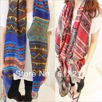 2013 Free Shipping Hot Sale Fashion Aztec-Voile Scarf For Women