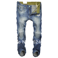 Free shipping 2013 winter new scull wear white camouflage military element embroidery patch Slim Men Jeans Specials Hotting!!!