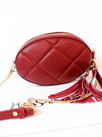 female bags day clutch Bag plaid messenger  tassel bag chain BAG small
