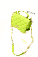 Fashion plaid 2013 small portable messenger bag metal chain women's bags candy color women bag