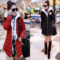 Free shipping Fashion slim medium-long women's thermal elegant down coat outerwear winter casual