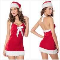 Adult ariel costume santa skirt showgirl costumes christmas fairy tail masquerade gowns with hat lingerie free shipping CC7156