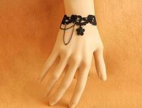 Fashion black lace bracelet adjustable size  personality free shipping