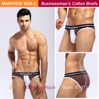 2014 Fashionable Classical Good Feeling Cotton Sexy Black Grey Coffee Navy Business Mens Briefs Underwear Shorts (M28-2)