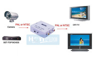 New HD Video Mini Two Way TV System Converter Box PAL to NTSC & NTSC to PAL Adapter free shipping