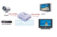 New HD Video Mini Two Way TV System Converter Box PAL to NTSC & NTSC to PAL Adapter free shipping