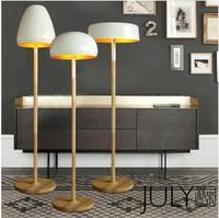 Accountant shall Nordic American country cute minimalist Ikea wood mushroom head mushroom floor lamp