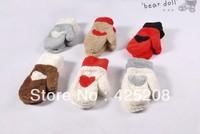 Qiu dong season more lovely warm wool gloves love female warm gloves