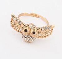 Fashion royal vintage owl diamond ring cxt98894