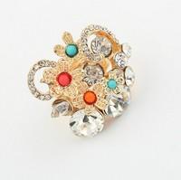 Fashion all-match fashion flower diamond ring cxt97234