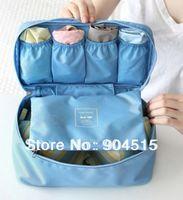 Free Shipping New Arrival Hot Selling Retail Polyester Travel Handbag Organizer Bag in Bag Bra Underwear Organizer
