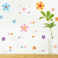 New arrival romantic flower sticker child wall tv wallpaper paste decoration multicolour millenum