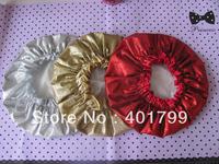 Free shipping fashion glitter Shower cap with pvc tube packing 6 pcs/set