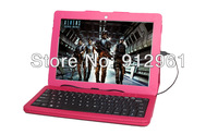 Cheap 10.1 inch Ainol Novo 10 Pipo M9 3G RK3188 Sanei N10 Deluxe Tablet PC Keyboard Leather Case Black free shippping universal