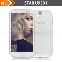Star U9501 i9500 S4 Android 4.2 Cell phone 5'' 1280x720p IPS Screen Quad core mtk6589T 1.5Ghz 1GB RAM 8GB Russia Free Shipping