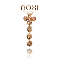 ROXI Princess dinner Necklace Rose Gold plated with AAA zircon,fashion Pure manual mosaic Jewelry,GSN004