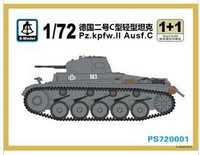 S-model 1/72 PS720001 Pz.kpfw.II Ausf.C Plastic model kit