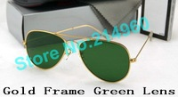 Dark green lenses Arrival ray Alloy Frame men women Sun glasses Excellent Quality Sunglasses 58mm/62mm Free Shipping