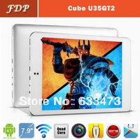 DHL free  popular Cube U35GT2 tablet pc android 4.1 Quad Core Mini pad  1.8GHz 7.85 Inch IPS 2GB 16GB Dual camera 5.0MP wifi mid