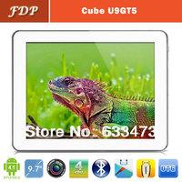 DHL free hot Cube U9GT5  Android 4.1 9.7inch Quad Core tablet pc1.6GHz Retina Screen 2GB 16GB mid Dual Camera 2048x1536px
