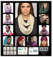 New Style High Qualtiy Comfortable Seamless Multipurpose Outdoor Long Scarf Fashion Lady Pashmina Quick Dry Tencel fiber