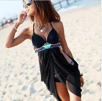 DYYY-0287 2013 free shipping New Brand sexy black one-pieces beach dress Swimwear Bikini ,bathing suit ,sexy Swimsuit for women