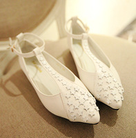 Star 2013 new arrival three-dimensional pointed toe leather ladies small shoes women's shoes