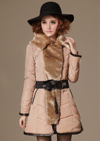 Free shipping 2013 New Winter Rabbit Luxurious Nagymaros collar Slim Temperament Melt Down  Hot