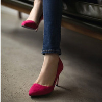 Rv 2013 high-heeled pointed toe single shoes ol thin heels shallow mouth low women's shoes  Free Shipping