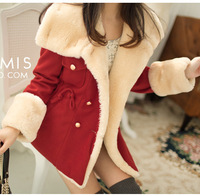 Women 2013 slim waist female medium-long Women trench thick outerwear spring and autumn