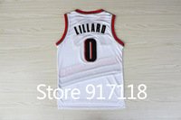 Free Shipping,#0 Damian Lillard 2013 Rev 30 Top quality New Material Basketball jersey,Embroidery logos,Size S--3XL