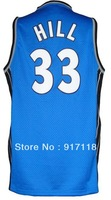 Free Shipping,#33 Grant Hill Rev 30 Top quality Basketball jersey,Embroidery logos,Size 44-56