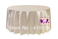 "Free shipping/132""Round table cloths/Satin table cloth/Ivory table cloth/Wedding tablecloths/335CM"