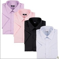 HOT SALE!!!2013 new arrival summer commercial male short-sleeve shirt male formal solid color plus size FREESHIPPING