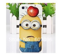 1pc China post  Freeshipping Relief Painting Series Despicable Me  Design PVC Detachable Hard Back Case Cover for iPhone 4/4S