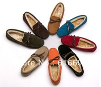 Free Shipping 2013 Winter Fashion Artificial Leather Shoes Men Flats For Women Casual Brand Shoes Woman 8Colors Ballet Flats Red