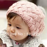 Rabbit fur ball Baby knitted Cap baby hat New Children Warm Winter Baby Beanie Soft Nap Kid Hat Fashion