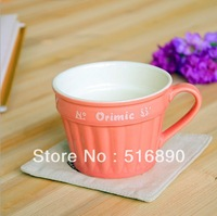 FREE SHIPPING!Simple Ceramic cup Coffee mug Office Drinking cup Orimic Colorful cup 2013New Coming