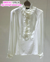 Mosaique 2013 all-match ruffle collar chiffon shirt 816a-88008 22octobre