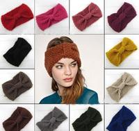 Free shipping - Corn lines knitted headband/Wool hat headdress hair bands ribbon