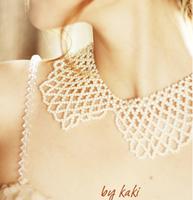 Fashion sweet all-match simulated-pearl false collar shirt clothes