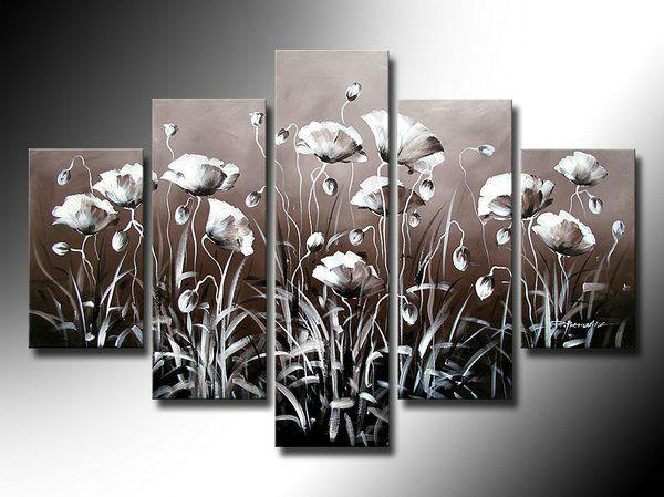 De alta qualidade fotos decoração papoula antigo flores pintura a óleo arte da parede obra de arte com quadro decoração sala de estar fotos(China (Mainland))