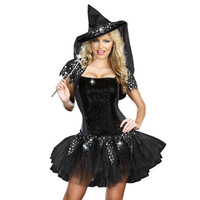 Halloween cosplay clothes black sexy set fashion