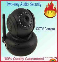 New model JW0018 TF Card recording Audio Pan/tilt Video Camera with IR-CUT Home security Black  Mini CCTV Camera