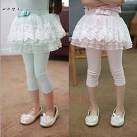 free shipping 5pcs/lot 75% cotton fashion Princess kids christmas tights leggings ruffled lace leggings baby